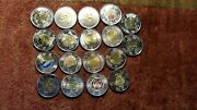 Canada 2 Toonies Commemorative Rare Collection Of 18 Mint Beauty Coins.
