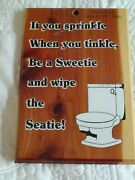 Toilet Humor Souvenir Ruby Falls Tennessee Toilet And Cute Quote On Cedar Board 7