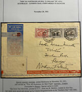1931 Melbourne Australia First Special Flight Airmail Cover To Bangor N Ireland
