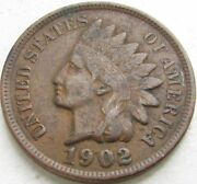 1902 Indian Head Penny / Small Cent In Saflip® - Xf- Vf+++