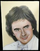 Dudley Moore Signed 12x16 One Of A Kind Hand Painted Canvas Jsa Authenticated