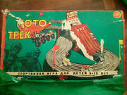 Vintage Ussr Made Board Game Russian Hot Wheels Moto Track Toy