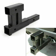 Dual 2 Receiver Trailer Hitch Extension Extender Rise Drop Adapter Bike F5