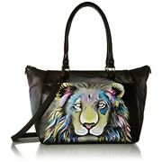 Anna By Anuschka Tote Bag   Genuine Leather   Large Lion Pride