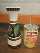 Colourful Retro With Leaf Design German Pottery Vase 102 20