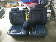 Front Leather Power Seat Pair Cadillac Brougham 4 Dr 90 91 92