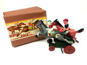 Ck Horse Race Celluloid Wind-up Vintage 1930and039s