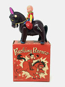 Modern Toys Bucking Bronko, Wind-up, Vintage 1950', Celluolid With Box And Key