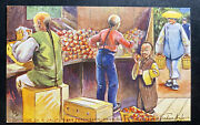 Mint Picture Postcard Chinese On A Californian Peach Farm Packing China