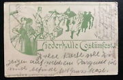 1897 Bruchsal Germany Picture Postcard Cover To Baden Chinese Costume Party