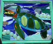 Turtle Stained Glass Mosaic Suncatcher