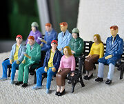100 Pcs G Scale Figure 122.5 All Seated Painted People