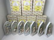 Precious Moments Chapel Exclusives - 23rd Psalm Of Windows - Complete Set Of 7