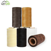 6pcs 284yds 1mm Waxed Thread Spool String Cord For Handicraft Leather Sewing