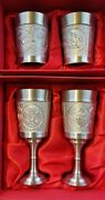 2 Sets Luxury Dragon Pewter Rare Collectible Wine Goblets And Cups New ドラゴンピュータandnbsp
