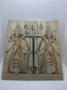 Rare Ancient Egyptian Antique An Old Painting Of Luminous Alabaster 1465 Bc