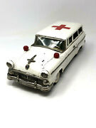 Tn Nomura Ford Red Cross Ambulance Vintage 1950and039s Station Wagon Japan