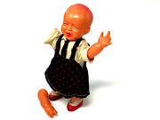 Vintage Baby Boy Crying, Windup Toy, Celluloid