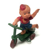 Vintage Boy On Scooter Wind-up Celluloid Occupied Japan