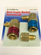 R134a Quick Coupler Set R12 Conversion Kit With Quick Couplers And Tank Adapter