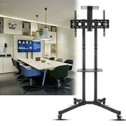 Tall Universal Mobile Tv Cart Tv Stand Mount /trolley For 32-70'' Tvs And Monitor