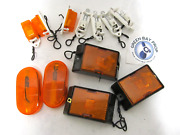 Lot Of 12 Boat Rv Trailer Replacement Amber Side Marker Lights And Mounts