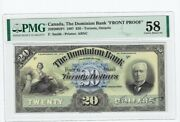 1897 The Dominion Bank Face Proof 20 Note Cat2202002p1 Pmg Au-58
