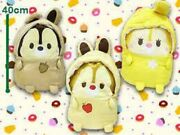 New Toreba Exclusive Disney Chip And039nand039 Dale And Clarice Fluffy Plush Toys 3 Pieces