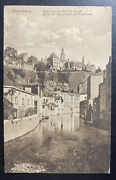 1926 Luxembourg Real Picture Postcard Cover To Belgium Grund Bridge View