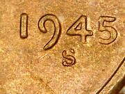 1945-s/s Rpm 6 Lincoln Wheat Penny Gem Bu Uncirculated Red Us Coin Mq