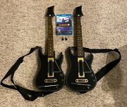 Wii U Guitar Hero Live Bundle With 2 Guitars With Straps, 2 Dongles, And Disc