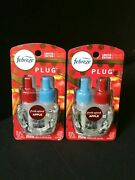 2x Febreze Limited Edition Fresh Spiced Apple Plug In Scented Oil Refill