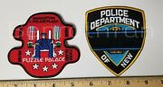 Ny Rare Police Patches Nyc Puzzle Palace Headquarters Memorial Patch Lot Of 2