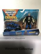 Spin Master Monster Jam 2020 Creatures 1/64 Son-uva Digger And Scrap Fig. New Htf