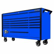 Extreme Tools Dx722117rcblbk 17-drawer Roller Cabinet Tool Chest In Blue