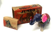 Vintage Alps Jumbo The Angry Elephant Windup Celluloid Toy Occupied Japan