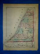 Antique 1873 Atlas Map Berrien And Cass Co. Michigan Old And Authentic