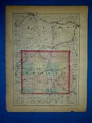 Antique 1873 Atlas Map Branch And St. Joseph County, Michigan Old Authentic