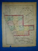 Antique 1873 Atlas Map Montcalm - Muskegon County, Michigan Old Authentic