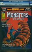 Monsters Of The Movies Annual 1 Cgc 9.6 Oww Pages Spock A8