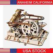 Diy 3d Puzzle Wood Wheel Coaster Manually Operated Toy Kit