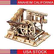 Diy 3d Puzzle Wood Gear Coaster Manually Operated Toy Kit