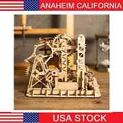 Diy 3d Puzzle Wood Gear Wheel Coaster Manually Operated Toy Kit