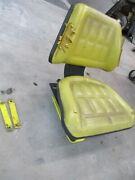 Tractor Seat W/ Adjuster And Brackets John Deere 400 Garden Tractor -ships Fast