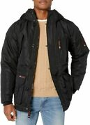 Canada Weather Gear Menand039s Insulated Jacket Medium Sleeve Patch Black
