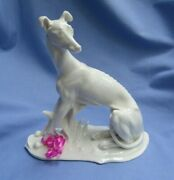 1930 Whippet Italian Greyhound Dog Volkstedt Germany 8