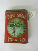 Vintage Advertising Forest And Stream Creel Lid Fat Vertical Pocket Tin 6-b
