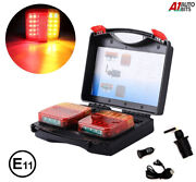 Wireless Led Rear Tail Lights Battery Operated Usb Magnetic Tow Towing Trailer