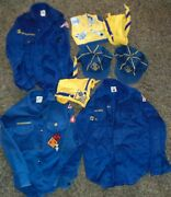 Lot Of Vintage Boy Scout Shirts, Scarves And Hats