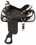 Silver Royal Youth Challenger Silver Show Saddle - Berry Edge Trim